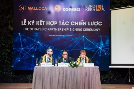 Malloca ký kết hợp tác với Copreci và Eurokera