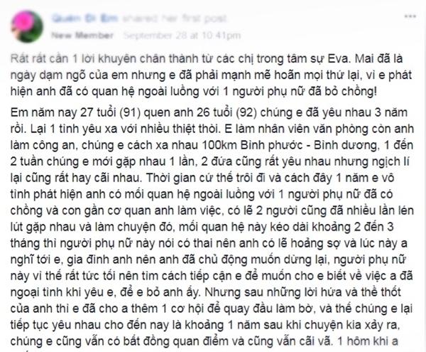 Hoan dam ngo vi phat hien chong sap cuoi co so thich 'ngoai luong' voi phu nu bo chong