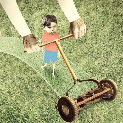 Làm cha mẹ kiểu… máy xén cỏ
