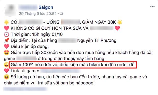 Vu khach mac bikini se duoc mua tra sua mien phi: UBND phuong khong hay biet!