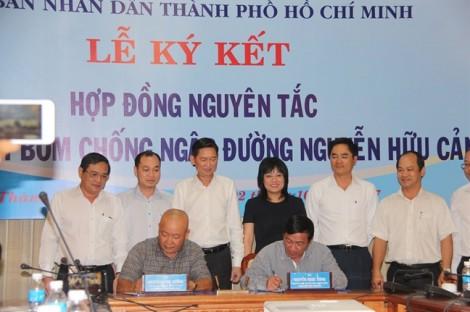 TP.HCM ký hợp đồng với đơn vị bơm chống ngập đường Nguyễn Hữu Cảnh