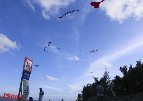 100 con diều nghệ thuật tung bay trên biển Cần Giờ trong lễ hội Nghinh Ông