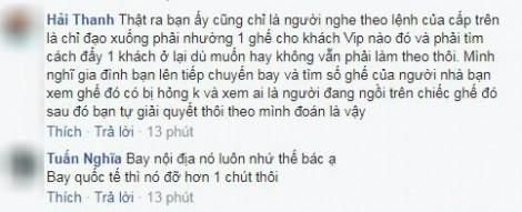 Khách hàng 'la làng' vì máy bay Vietnam Airline bị... hỏng ghế
