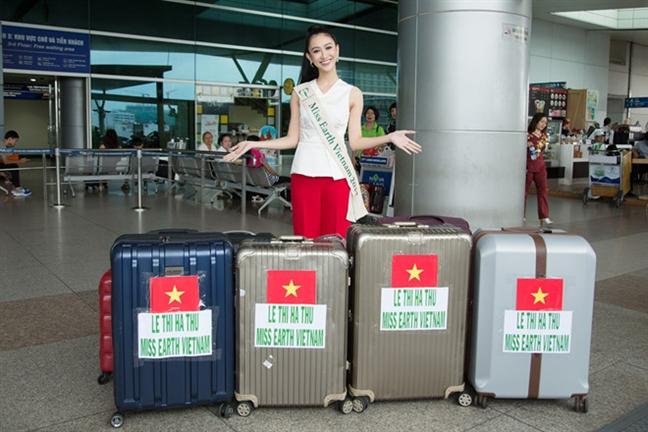 A hau Ha Thu da co thanh tich dau tien tai 'Hoa hau Trai dat 2017'