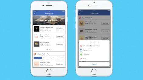 Người dùng hiện có thể đặt đồ ăn qua ứng dụng Facebook