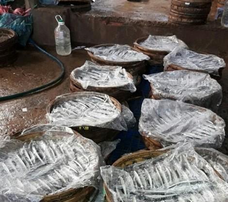 Dùng hóa chất không rõ nguồn gốc để hấp cá trước khi đưa ra chợ