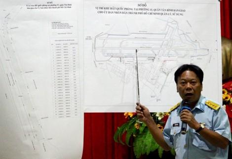 Bộ Quốc Phòng bàn giao hơn 7.000 m2 đất cho TP.HCM mở rộng giao thông sân bay