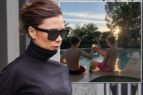 Victoria Beckham bị chỉ trích vì một chi tiết trong bức ảnh khoe con trai
