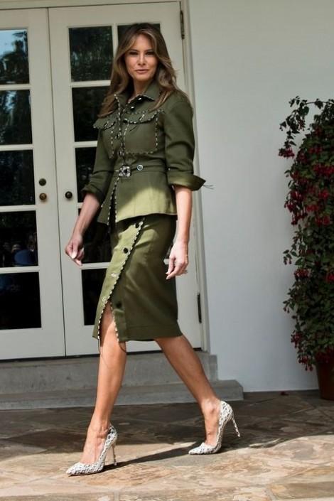 Thời trang sang trọng của phu nhân Tổng thống Donald Trump