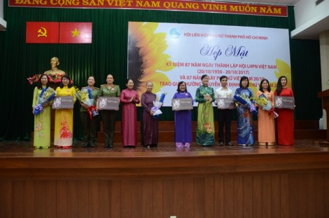Trao Giải thưởng Nguyễn Thị Định lần thứ V, năm 2017