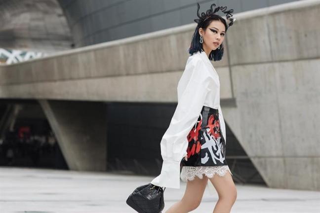 Ngam my nhan Viet khoe sac trong street style tai Seoul Fashion Week