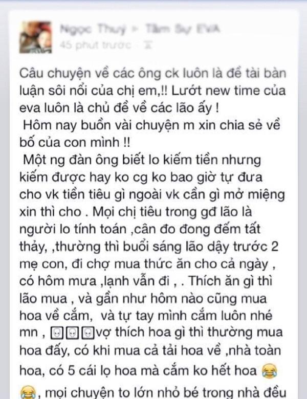 Chong khong dua tien, tu di cho moi ngay ma sao nguoi vo nay hanh phuc den the?