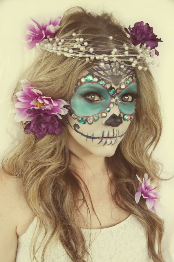 Kieu hoa trang Halloween don gian, an tuong