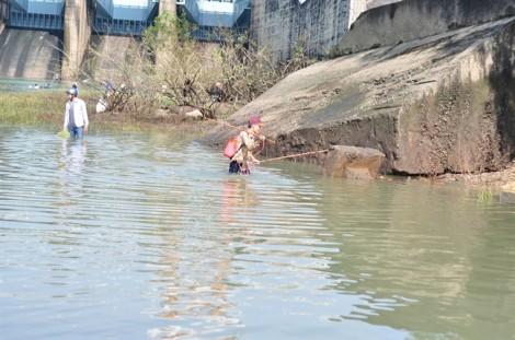 Thủy điện Trị An ngưng xả lũ, người dân đổ xô đi săn cá 'khủng'