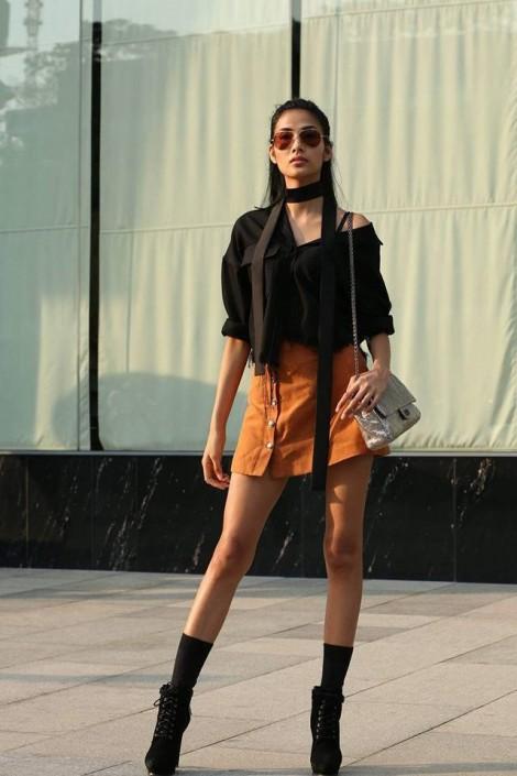 Ngắm street style không thể rời mắt của người mẫu Hoàng Thuỳ
