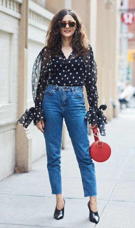 Muôn kiểu mặc đẹp với quần jeans thanh lịch cho nàng công sở