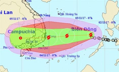 Áp thấp nhiệt đới mạnh lên thành bão, hướng vào Nam Trung Bộ