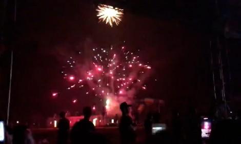 Màn bắn pháo hoa rực rỡ trong ngày đại hội tập đoàn Mường Thanh gây xôn xao