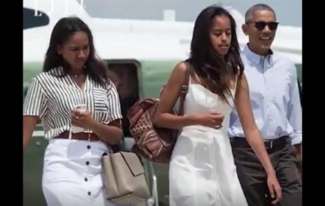 Quá trình trưởng thành đầy kinh ngạc của 2 ái nữ nhà Obama