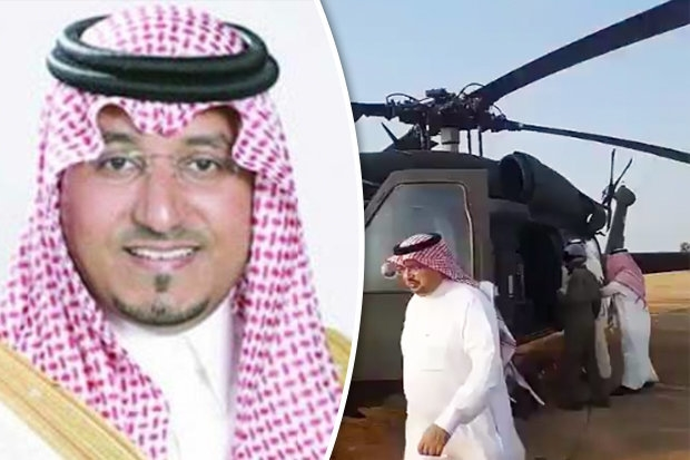Hoang tu Saudi tu nan vi may bay roi gan bien gioi Yemen