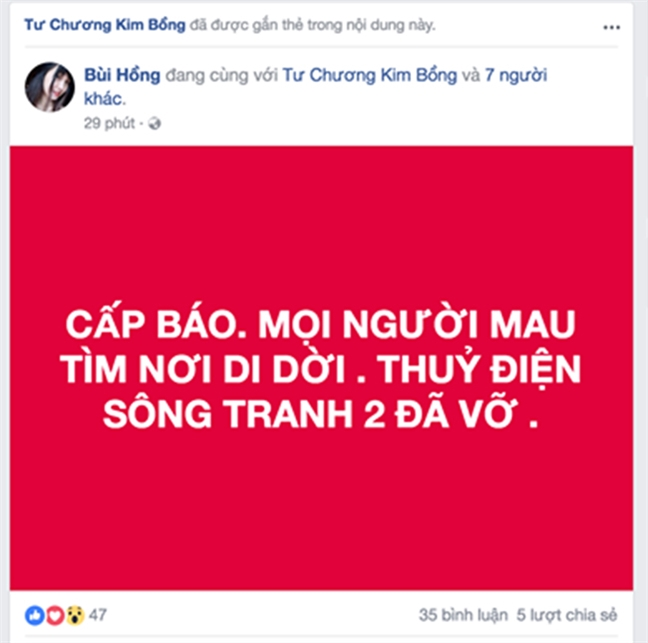 Nguoi dan hoang mang cuc do vi tin don vo thuy dien Song Tranh 2