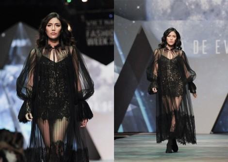 Người mẫu Lan Khuê bị 'dìm' vóc dáng trong trang phục ren