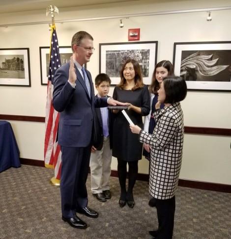 Tân Đại sứ Mỹ trình Quốc thư lên Chủ tịch nước Việt Nam