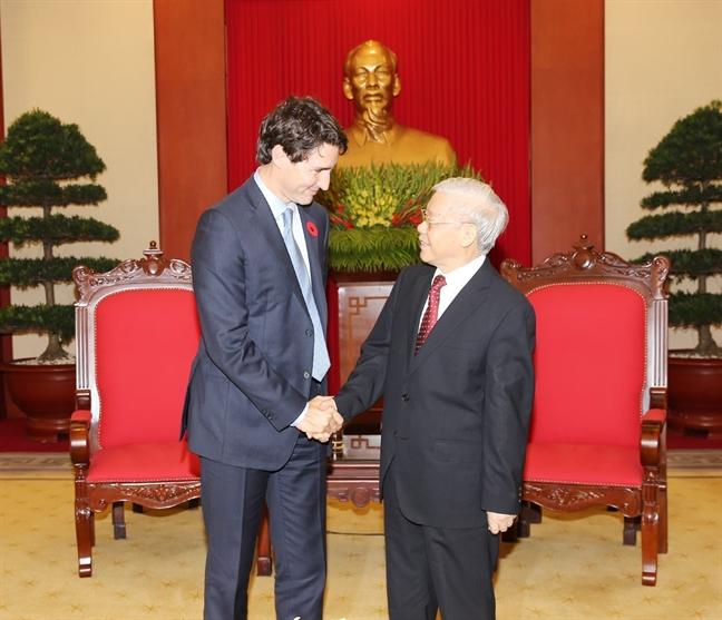 Viet Nam - Canada nhat tri xac lap quan he doi tac toan dien