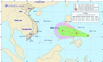 Biển Đông xuất hiện áp thấp nhiệt đới sau bão Damrey
