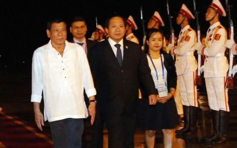 Tổng thống Philippines Duterte đã đến Việt Nam
