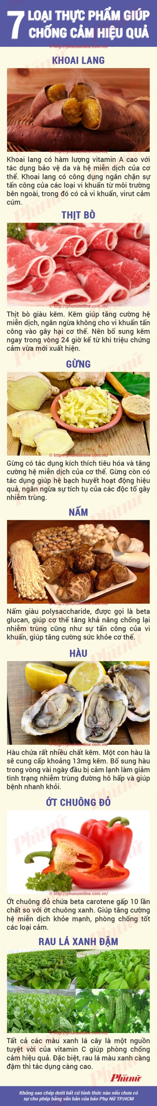 7 thực phẩm chống cảm lạnh hiệu quả