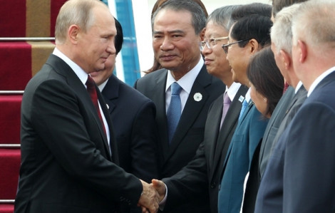 APEC 2017: Tổng thống Nga Vladimir Putin tới Đà Nẵng