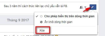 Facebook khong con cho xoa bai viet?