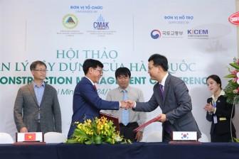 Tập đoàn Hoàng Quân ký kết hợp tác với Hiệp Hội quản lý xây dựng Hàn Quốc