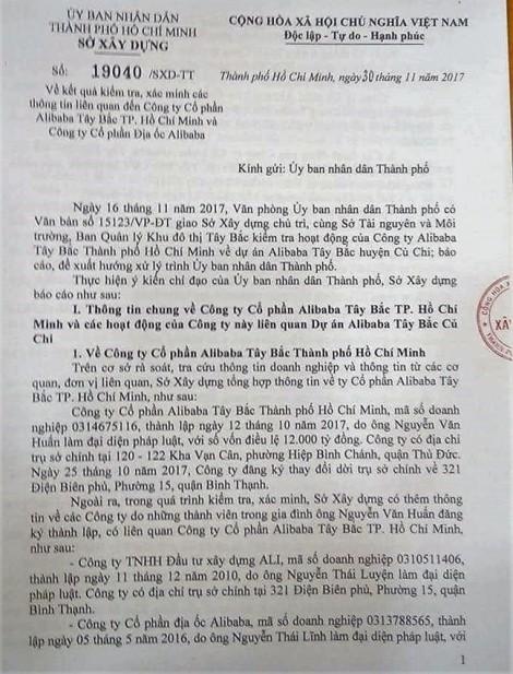 Đề nghị Sở Kế hoạch Đầu tư, Cục thuế TP kiểm tra toàn diện hệ thống Alibaba