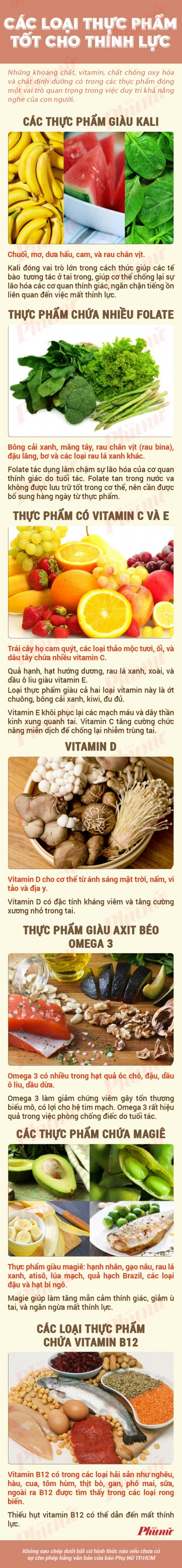 Cải thiện thính giác bằng các thực phẩm dễ tìm tại Việt Nam