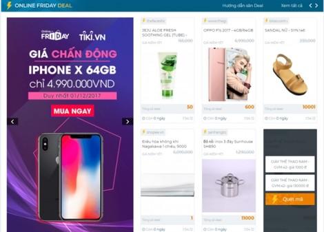 Online Friday 2017 gây sốc với nhiều sản phẩm bán giá 0 đồng