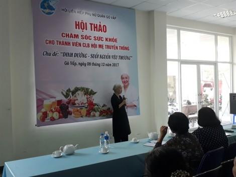 Quận Gò Vấp: Hội thảo về dinh dưỡng cho người già
