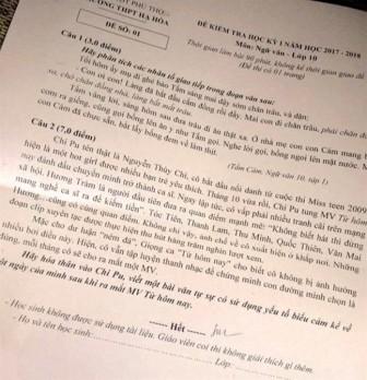Chi Pu vào đề thi Văn: Bài học nhân văn từ câu chuyện bắt nạt