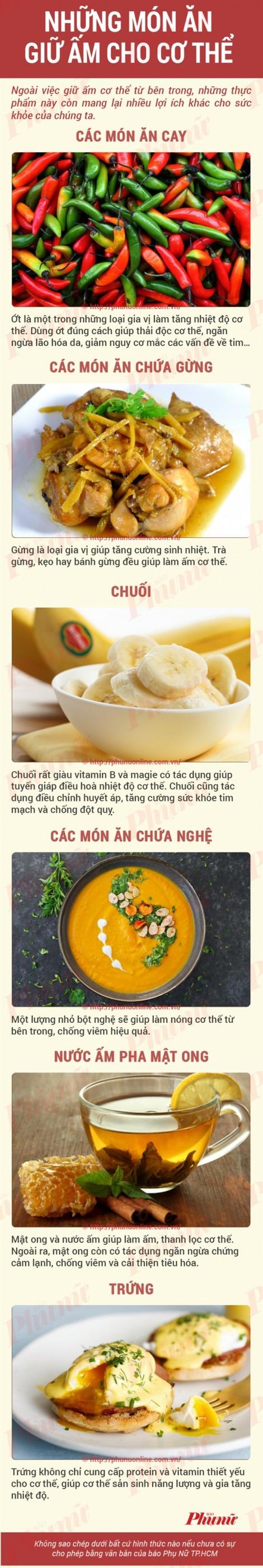 Các món ăn ấm bụng cho ngày lạnh