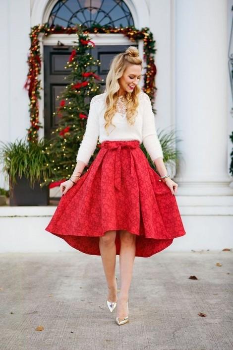 Gợi ý phối trang phục sắc xanh, đỏ sành điệu đón Giáng sinh