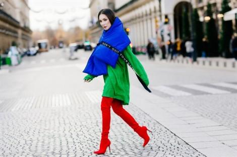 Phong cách thời trang mùa đông đa sắc màu của Hồ Quỳnh Hương