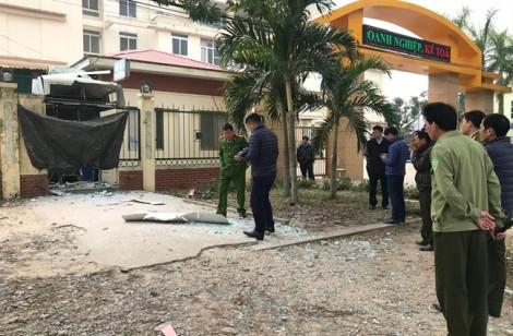 Buồng ATM cạnh trường học nổ tung trong đêm