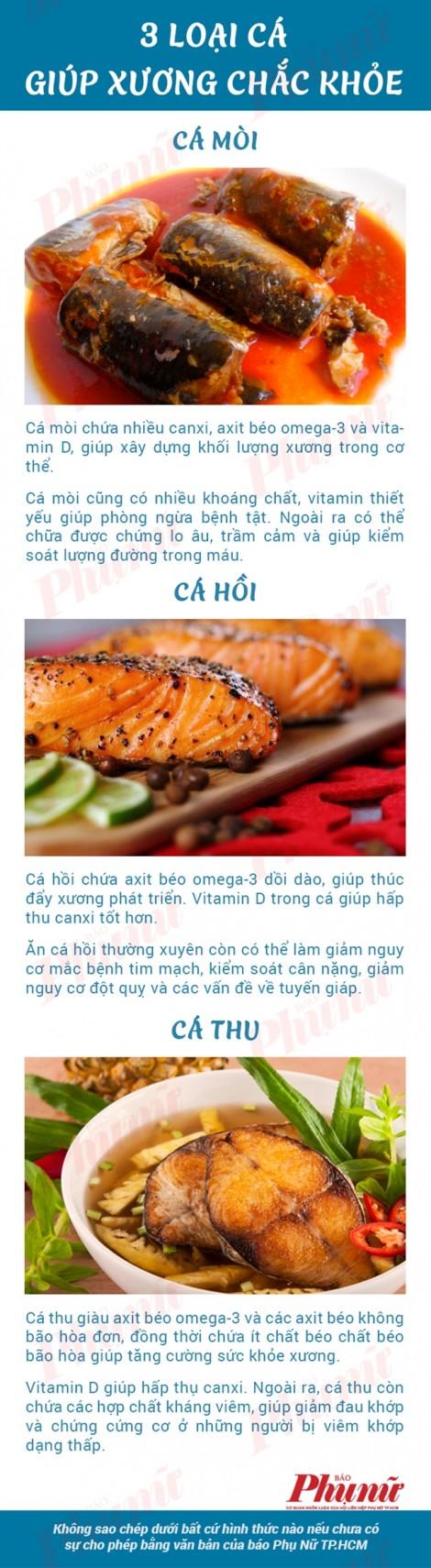 3 loại cá giúp xương chắc khỏe