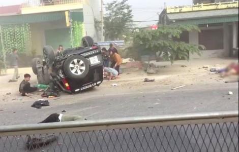 Ôtô tông xe máy, 4 người thương vong