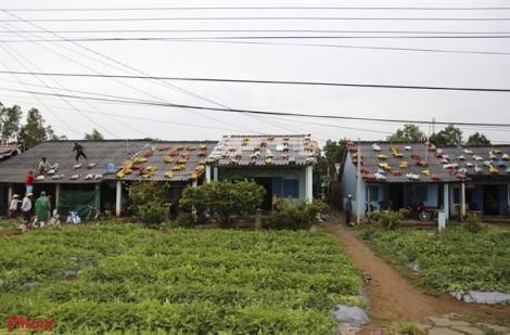 Hàng chục ngàn hộ dân Sóc Trăng khẩn trương chèn chống nhà cửa trước bão số 16 (Tembin)