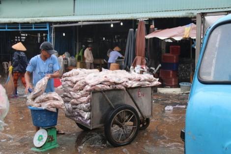 Chợ miền Tây tranh thủ bán hết mẻ cá cuối trước khi bão Tembin đổ bộ