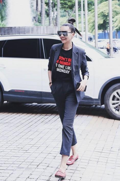 Sao Việt cá tính với phong cách menswear