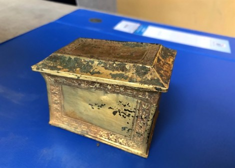 Hộp đựng xá lị bằng vàng được công nhận bảo vật quốc gia