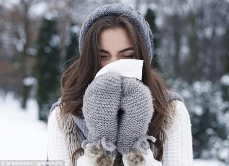 Vì sao chảy mũi khi trời lạnh?